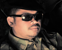 Socheat Sok, playing the Lon Nol Commanding Officer in the Cambodian supernatural historical drama, FREEDOM DEAL: Story of Lucky