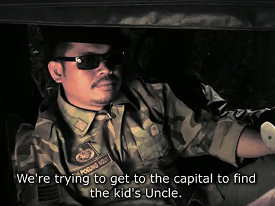 An officer from the US supported Cambodian Republic army, appearing in FREEDOM DEAL, by writer-director Jason Rosette